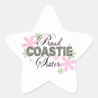 Proud Coastie Sister Camo Star Sticker