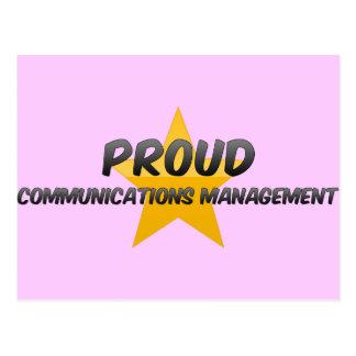 Proud Communications Management Post Card