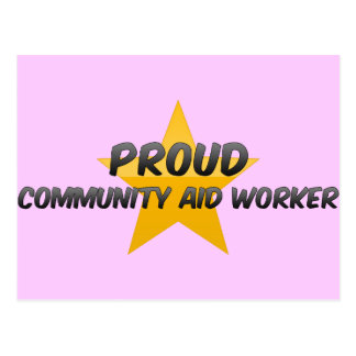 Proud Community Aid Worker Post Cards