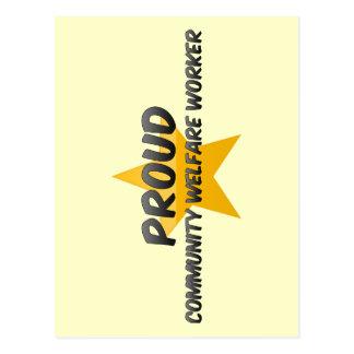 Proud Community Welfare Worker Post Cards