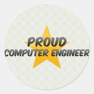 Proud Computer Engineer Round Sticker