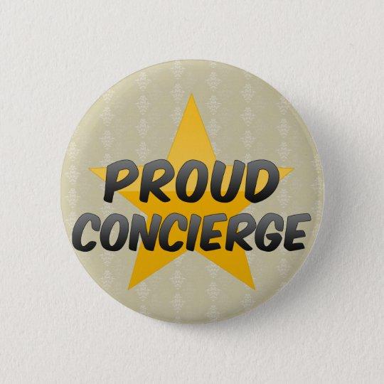 Proud Concierge 6 Cm Round Badge