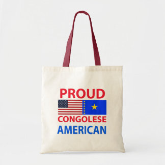 Proud Congolese American Budget Tote Bag