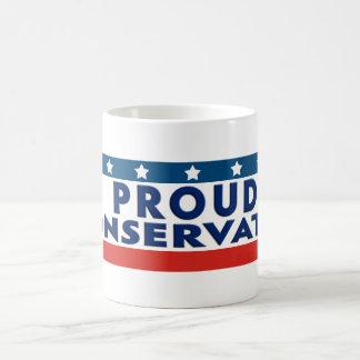 Proud Conservative Basic White Mug