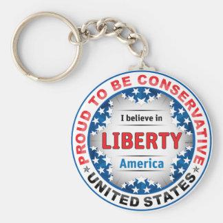 Proud Conservative Key Chain