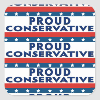 Proud Conservative Square Sticker