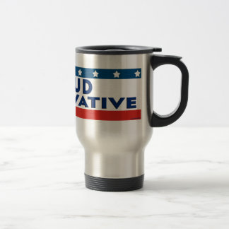 Proud Conservative Stainless Steel Travel Mug