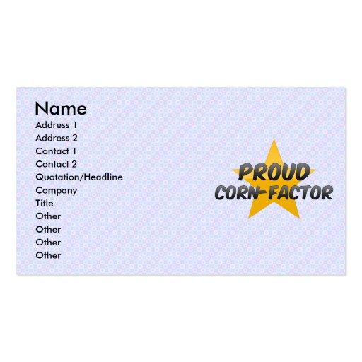 Proud Corn-Factor Business Card Templates