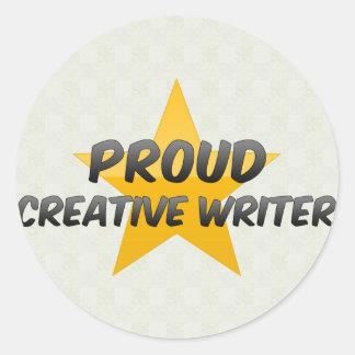Proud Creative Writer Round Sticker