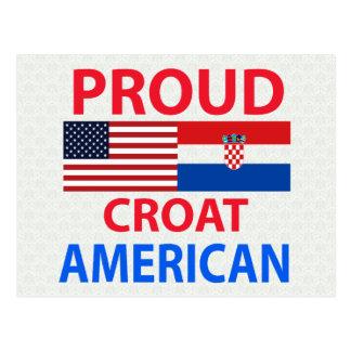 Proud Croat American Postcard