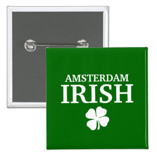 Proud Custom Amsterdam Irish City T-Shirt 15 Cm Square Badge