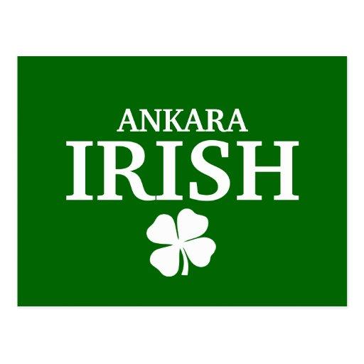Proud Custom Ankara Irish City T-Shirt Post Card