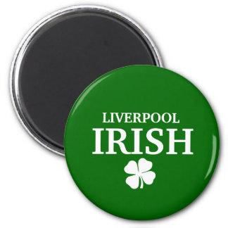 Proud Custom Liverpool Irish City T-Shirt 6 Cm Round Magnet