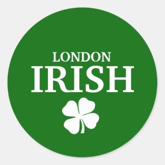 Proud Custom London Irish City T-Shirt Round Sticker