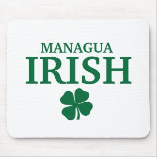 Proud Custom Managua Irish City T-Shirt Mouse Pad