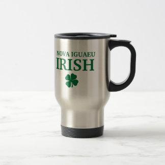 Proud Custom Nova Iguaeu Irish City T-Shirt Stainless Steel Travel Mug