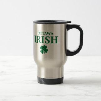 Proud Custom Ottawa Irish City T-Shirt Stainless Steel Travel Mug