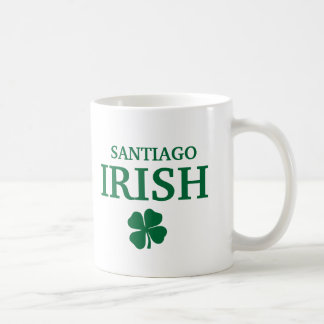 Proud Custom Santiago Irish City T-Shirt Basic White Mug