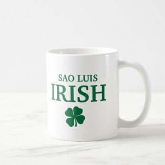 Proud Custom Sao Luis Irish City T-Shirt Basic White Mug