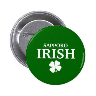 Proud Custom Sapporo Irish City T-Shirt Pinback Buttons