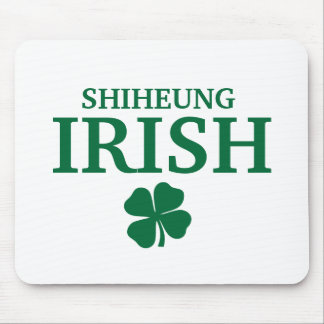 Proud Custom Shiheung Irish City T-Shirt Mouse Pads