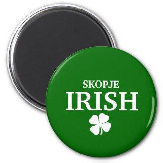 Proud Custom Skopje Irish City T-Shirt 6 Cm Round Magnet