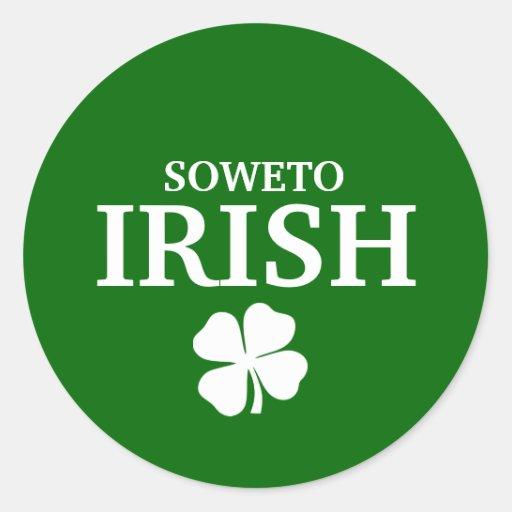 Proud Custom Soweto Irish City T-Shirt Round Sticker