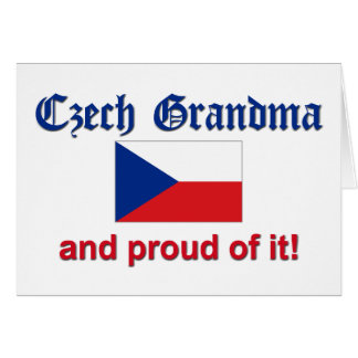 Proud Czech Grandma Card