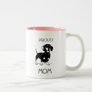 Proud dachshund Mmom illustrated wiener mug