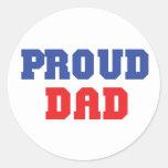 Proud Dad Gift Round Stickers