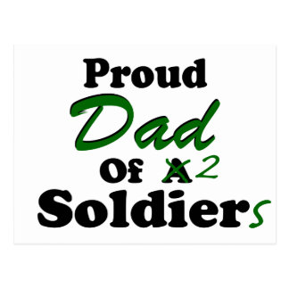Proud Dad Of 2 Soldiers Postcard