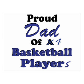 Proud Dad of 4 Basketball Players Postcard