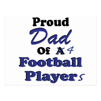 Proud Dad of 4 Football Players Postcard