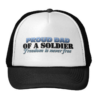 Proud Dad of a Soldier Cap
