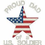 Proud DAD of a US Soldier - Personalised Hoody