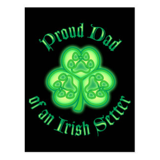 Proud Dad of an Irish Setter Postcard