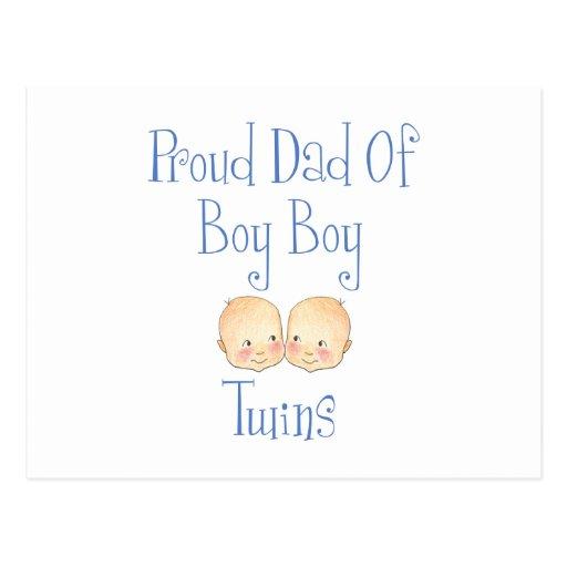 Proud Dad of Boy Twins Postcard