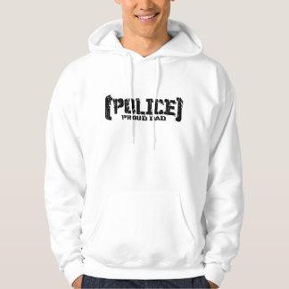 Proud Dad - POLICE Tattered Hoodie