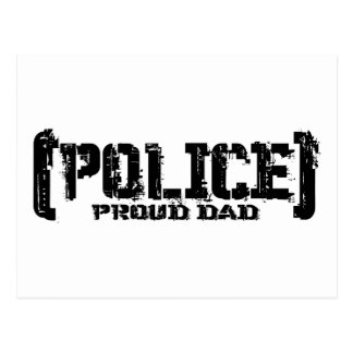 Proud Dad - POLICE Tattered Post Cards
