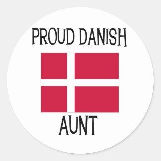 Proud Danish Aunt Sticker