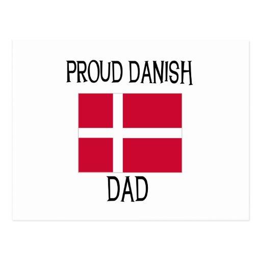 Proud Danish Dad Postcard