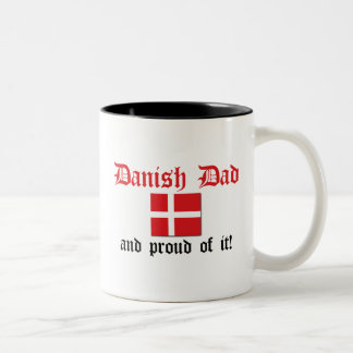 Proud Danish Dad Two-Tone Coffee Mug