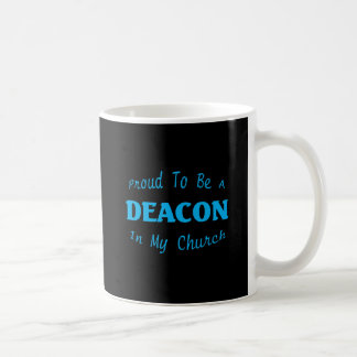 PROUD DEACON CHURCH DK BASIC WHITE MUG