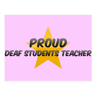 Proud Deaf Students Teacher Post Cards