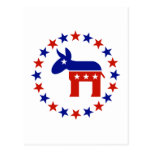 Proud Democrat Circle Stars Postcard