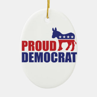 Proud Democrat Donkey Christmas Ornament