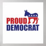 Proud Democrat Donkey Poster