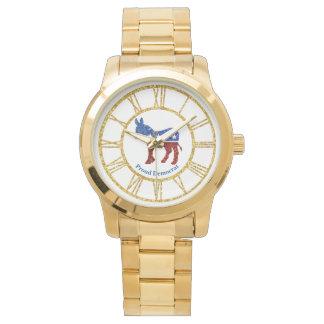 Proud Democrat Personalize Watch