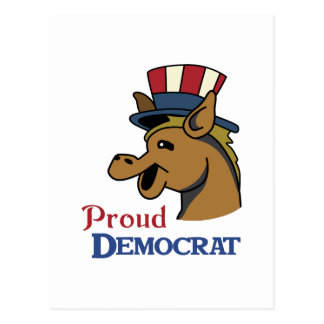 PROUD DEMOCRAT POSTCARD