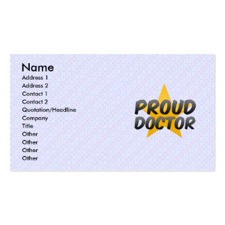 Proud Doctor Pack Of Standard Business Cards